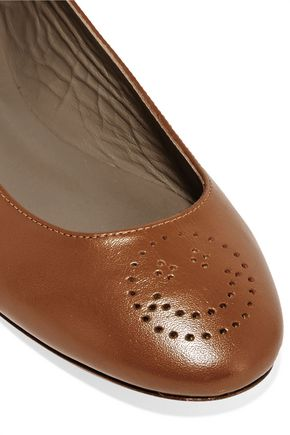 ANYA HINDMARCH Perforated leather ballet flats