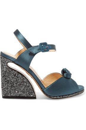 CHARLOTTE OLYMPIA Vega satin wedge sandals