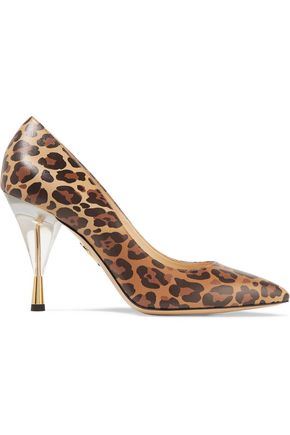 CHARLOTTE OLYMPIA Juliette leopard-print leather pumps