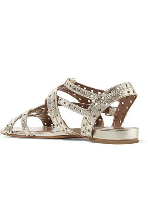 TABITHA SIMMONS Felicity cutout metallic leather sandals