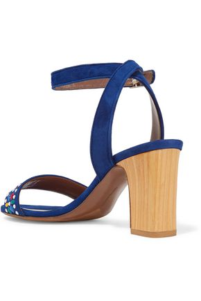 TABITHA SIMMONS Gia embellished suede sandals