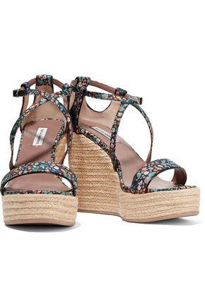 TABITHA SIMMONS Jenny denim espadrille wedge sandals
