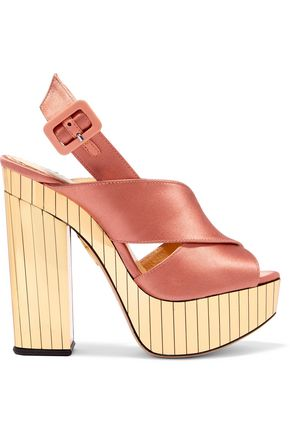 CHARLOTTE OLYMPIA Satin wedge sandals