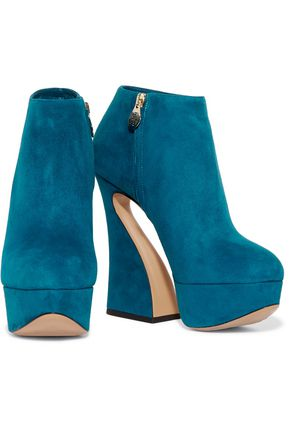CHARLOTTE OLYMPIA Millie suede ankle boots