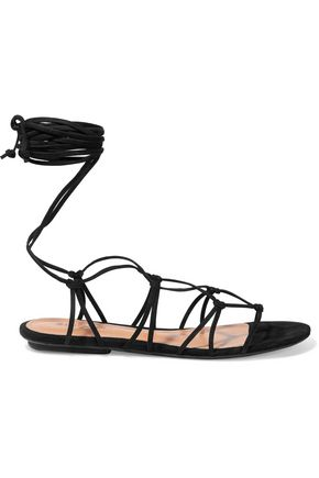 SCHUTZ Bunnie lace-up leather sandals