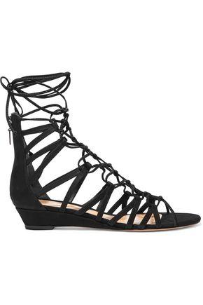 SCHUTZ Nitty lace-up nubuck sandals