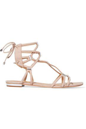 SCHUTZ Zimi crystal-embellished suede sandals