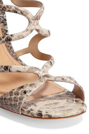 SCHUTZ Saveria snake-effect leather sandals