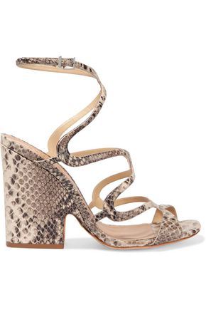 SCHUTZ Saveria snake-effect leather sandals