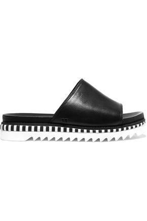 TORY BURCH Sawtooth leather slides