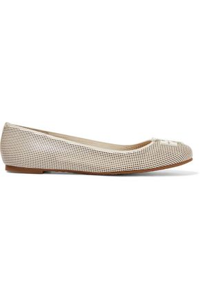 TORY BURCH Lowell perforated leather ballet flats
