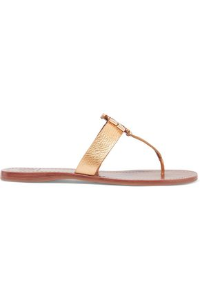 TORY BURCH Moore textured-leather sandals