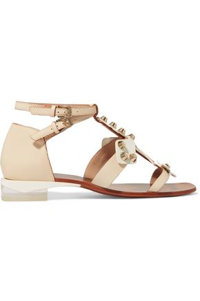 TORY BURCH Aurora studded leather sandals