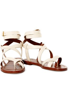 TORY BURCH Patos leather sandals