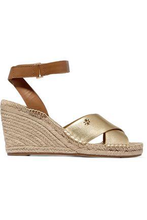 13ee1e6bdda1 TORY BURCH Bima metallic wedge espadrille sandals ...