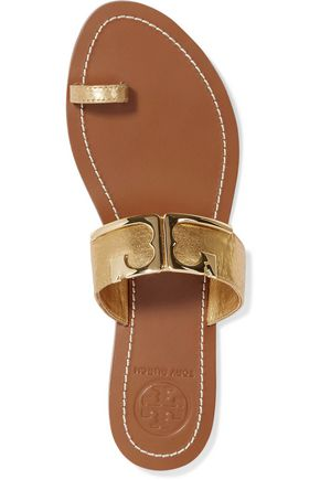 TORY BURCH Marcia metallic leather sandals