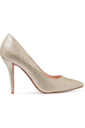 LUCY CHOI Adelite glittered-leather pumps