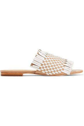 ISA TAPIA Arietta fringed woven leather sandals