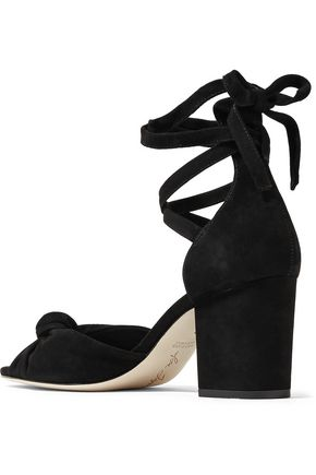 ISA TAPIA Carina knotted suede sandals