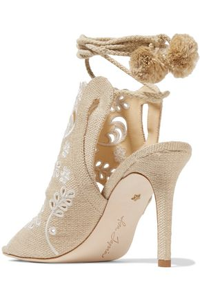 ISA TAPIA Fox Glove broderie anglaise canvas sandals
