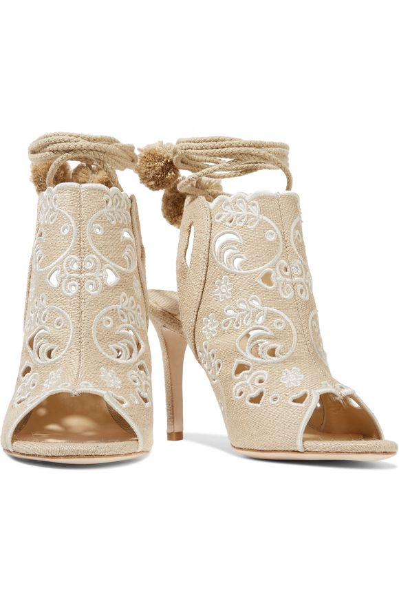 Fox Glove broderie anglaise canvas sandals | ISA TAPIA | Sale up to 70% off  | THE OUTNET