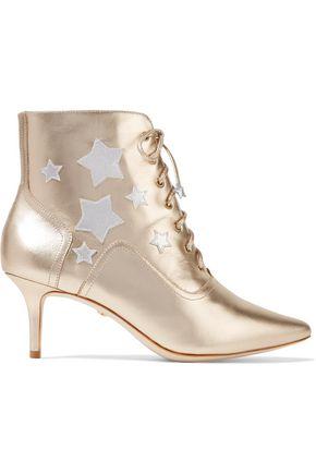 ISA TAPIA Rhea appliquéd leather boots