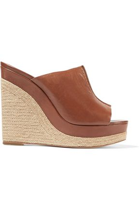 MICHAEL KORS COLLECTION Charlize leather wedge sandals