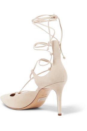 MICHAEL KORS COLLECTION Gabby lace-up suede pumps