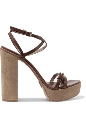 MICHAEL KORS COLLECTION Alma leather platform sandals