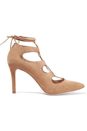 LOEFFLER RANDALL Delfine lace-up suede pumps