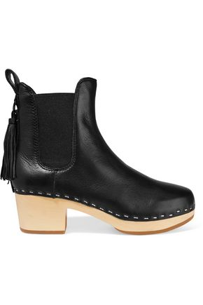 LOEFFLER RANDALL Dillon tassel-trimmed textured-leather ankle boots