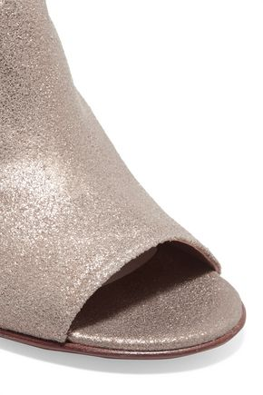 MAISON MARGIELA Metallic textured-leather ankle boots