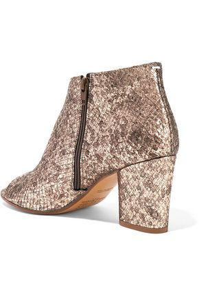 MAISON MARGIELA Metallic snake-effect leather ankle boots