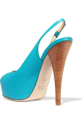 GIUSEPPE ZANOTTI Lizard-effect leather pumps