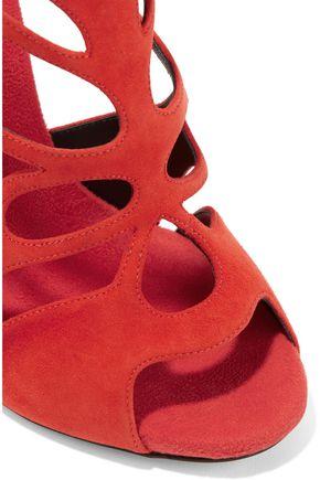 GIUSEPPE ZANOTTI DESIGN Cutout suede sandals
