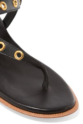 IRO Eyelet-embellished leather sandals