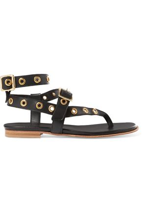 IRO Eyelet-embellished leather sandals