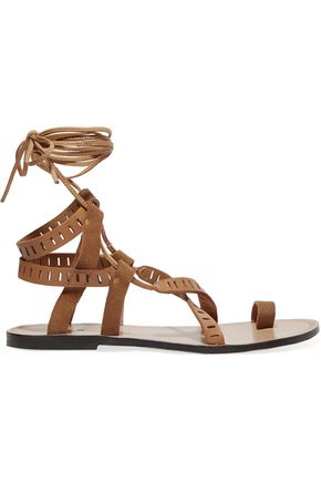 IRO Suede and leather sandals