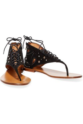 IRO Embellished nubuck sandals