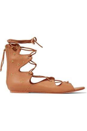 IRO Xiri studded leather lace-up sandals
