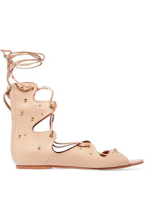 IRO Xiri lace-up studded leather sandals