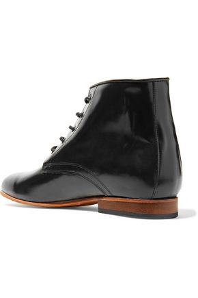 DIEPPA RESTREPO Kat textured-leather ankle boots