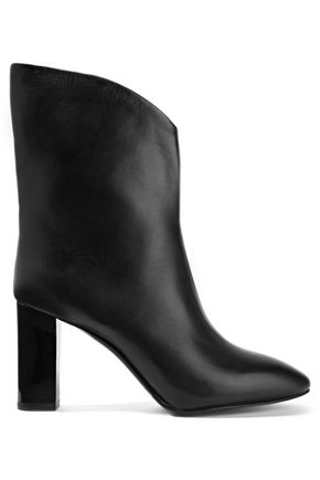 WOMAN AVA LEATHER ANKLE BOOTS BLACK