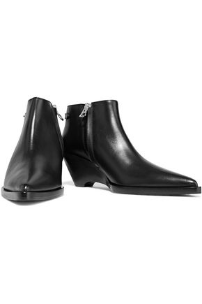 ACNE STUDIOS Carrie leather wedge ankle boots