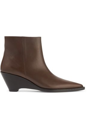 ACNE STUDIOS Cony leather wedge ankle boots