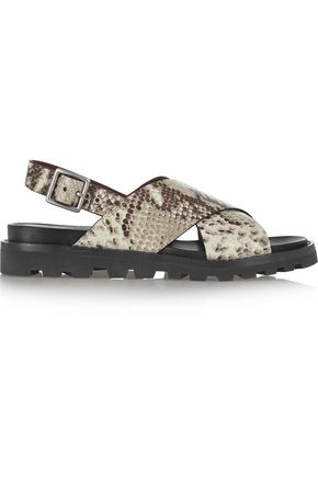 MARC BY MARC JACOBS Gramercy snake-effect leather sandals
