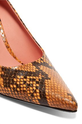 ACNE STUDIOS Snake-print leather pumps