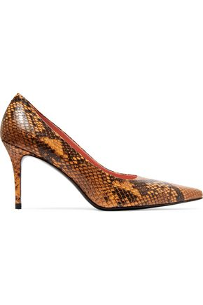ACNE STUDIOS Pam snake-print leather pumps