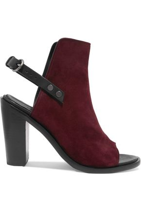 RAG & BONE Wyatt leather-trimmed suede sandals