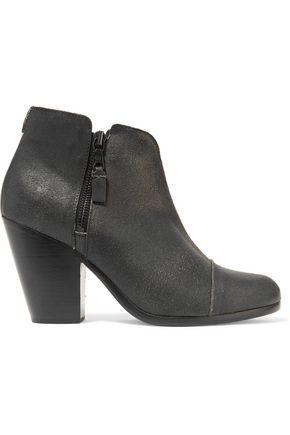 RAG & BONE Margot cracked-leather ankle boots